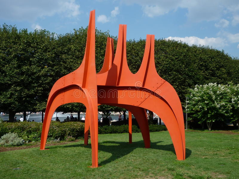 Escultura de Alexander Calder fotografía de archivo