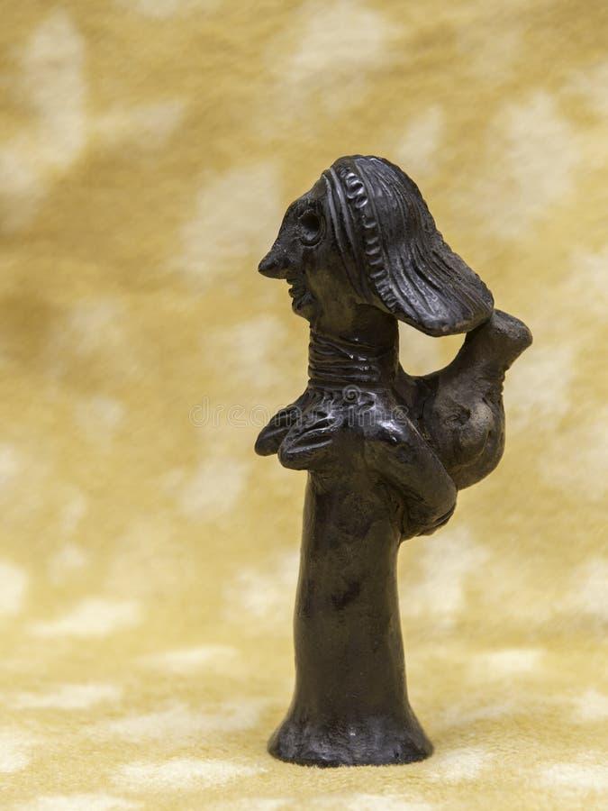 Escultura de arcilla negra de los judíos de Etiopía fotografía de archivo libre de regalías