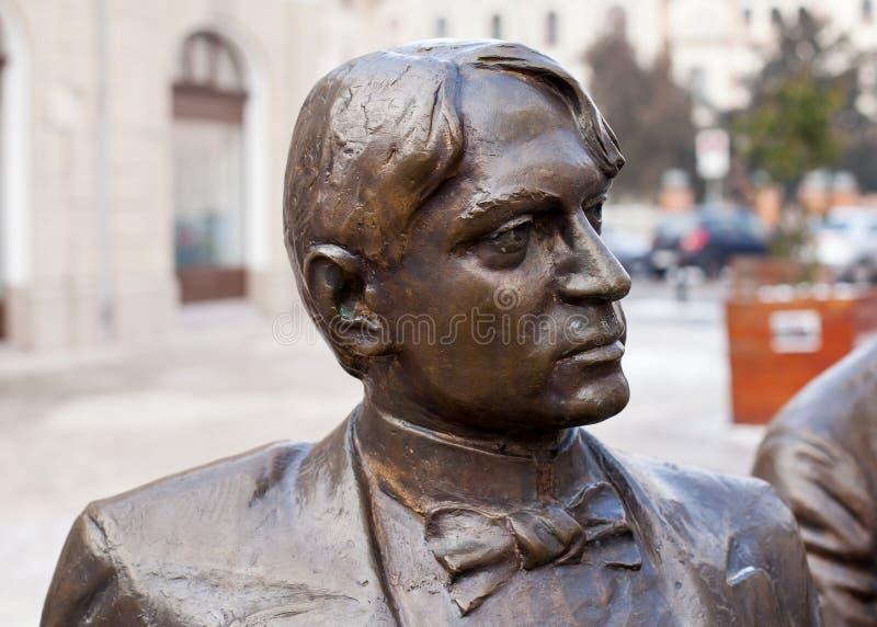 Escultura de bronce de Ady Endre imagen de archivo libre de regalías