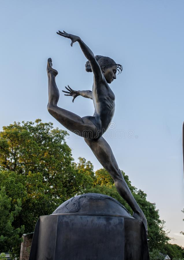 Escultura de bronce de Shawn Miller de Shan Gray, Edmundo, Oklahoma foto de archivo
