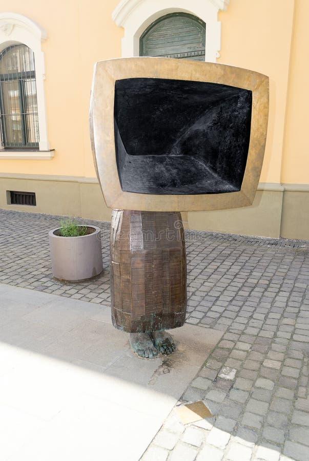 Escultura de bronze Timisoara da arte moderna, Romênia imagem de stock royalty free