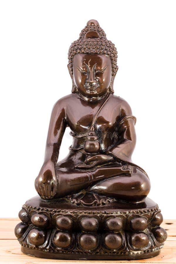 Escultura de Brown Buda foto de archivo