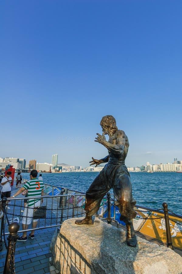 Escultura de Bruce Lee fotos de stock royalty free