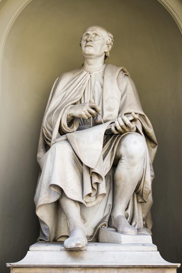 Escultura de Brunelleschi o grande construtor foto de stock royalty free