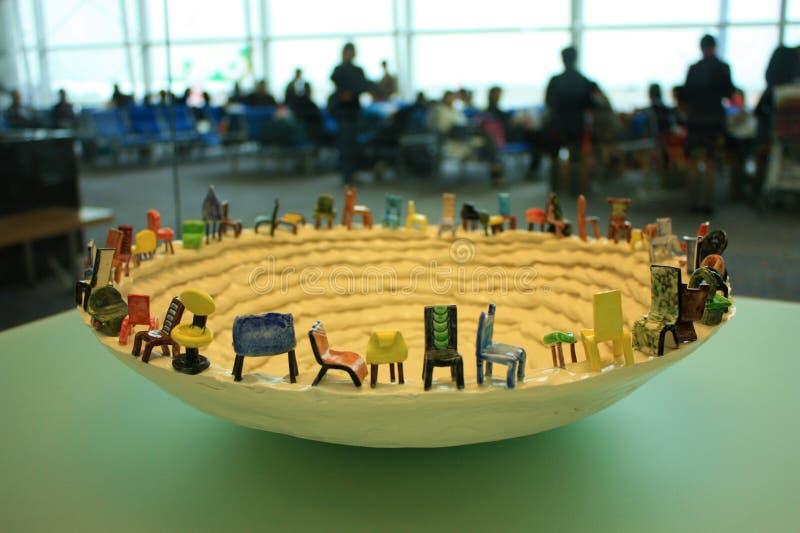 Escultura de cerámica fotos de archivo