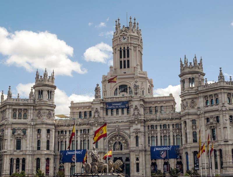 Escultura de Cibeles en Madrid imagen de archivo libre de regalías