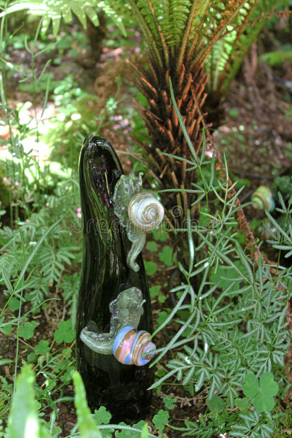 Escultura de cristal del caracol fotos de archivo