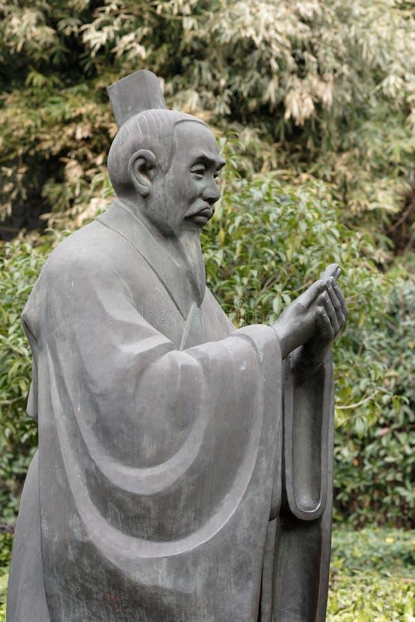 Escultura de figuras-Um históricas canto do parque imagens de stock
