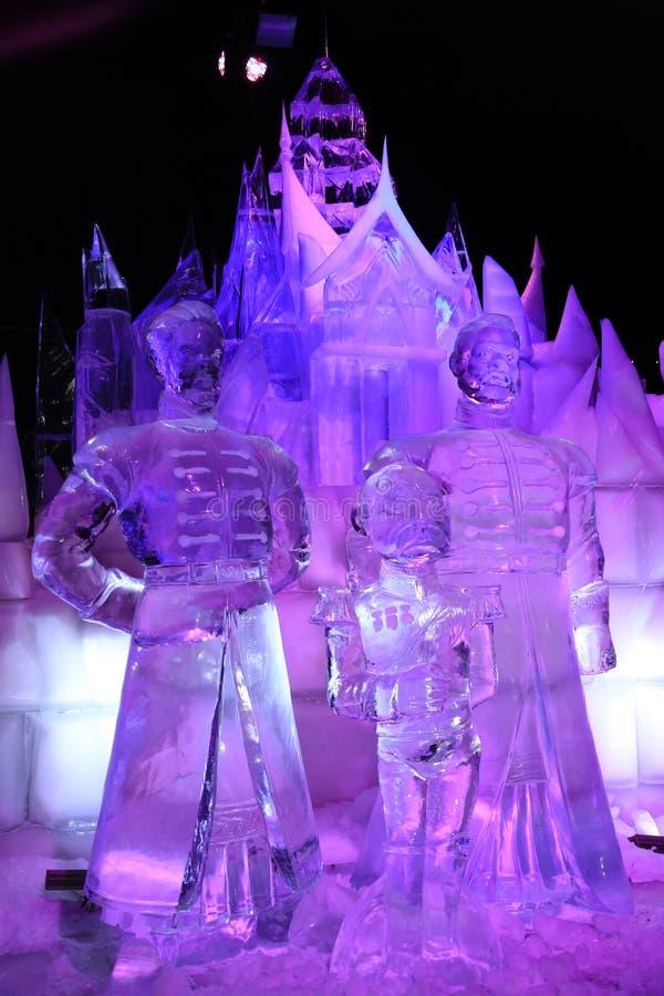 Escultura de gelo Bruges 2013 - 05 fotos de stock royalty free