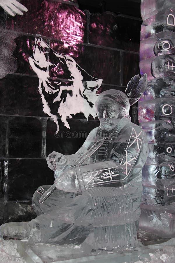 Escultura de gelo do indiano americano fotos de stock royalty free