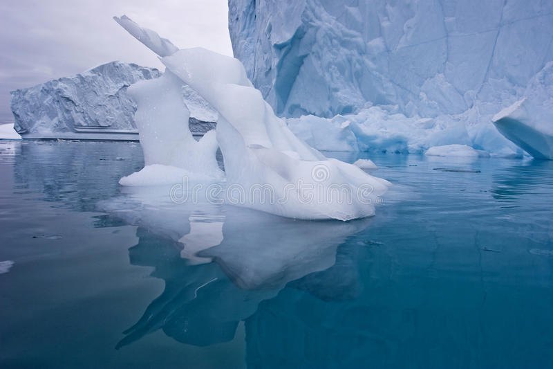 Escultura de hielo imagen de archivo