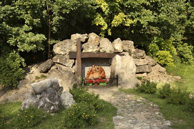 Escultura de Jesus Christ em Janow Lubelski poland imagens de stock