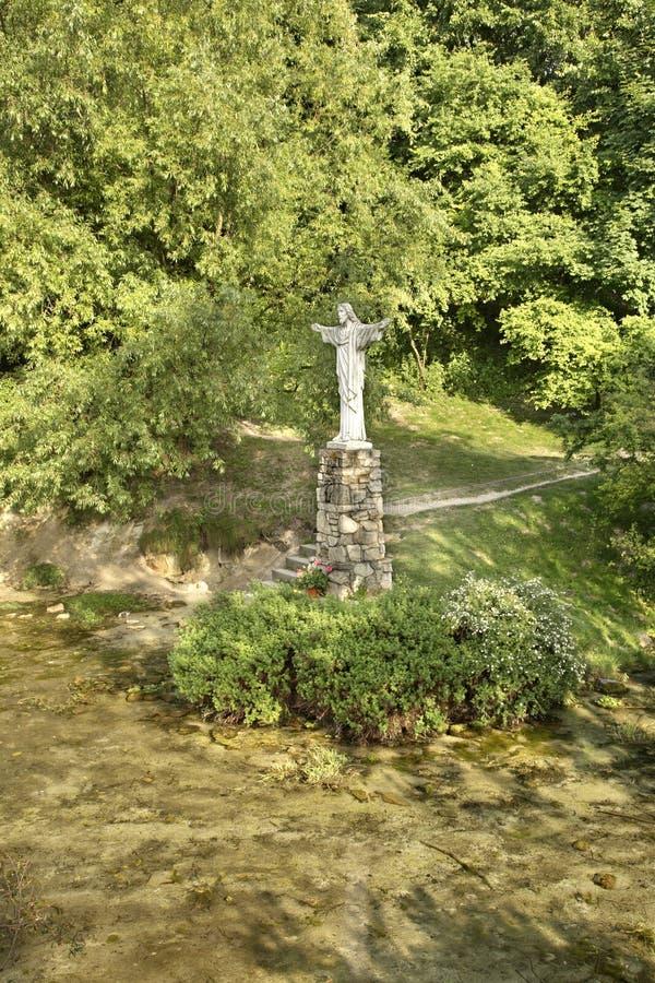 Escultura de Jesus Christ em Janow Lubelski poland fotos de stock royalty free