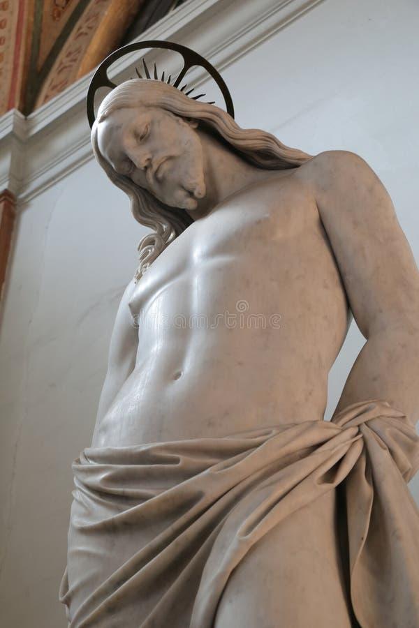 Escultura de Jesus Christ na basílica de Saint John Lateran fotos de stock royalty free