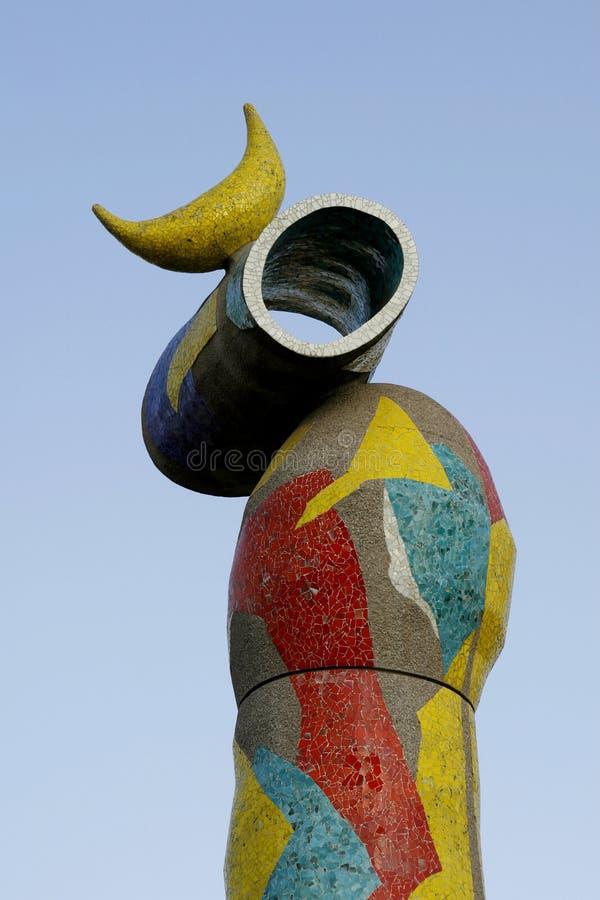 Escultura de Juan Miro imágenes de archivo libres de regalías