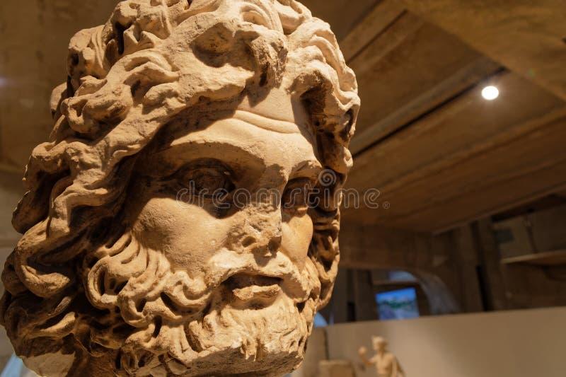 Escultura de Jupiter Roman encontrada en Lyon imagen de archivo