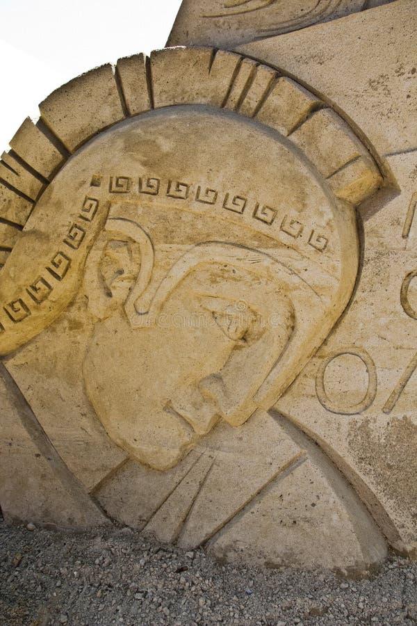 Escultura de la arena imagen de archivo