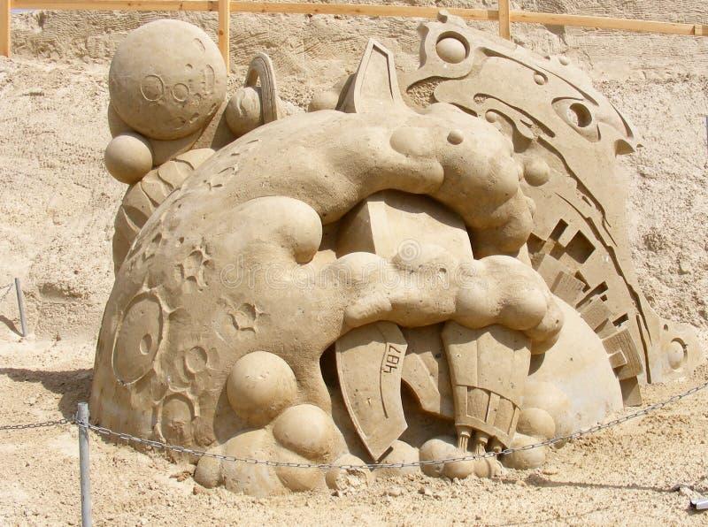Escultura de la arena imagenes de archivo