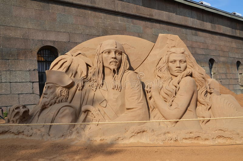 Escultura de la arena imágenes de archivo libres de regalías