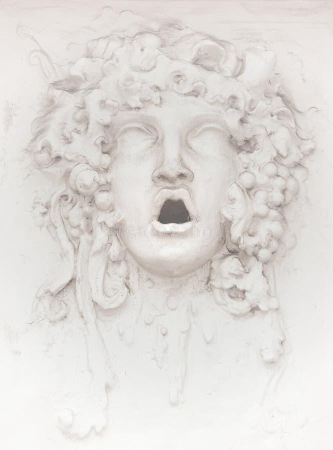 Escultura de la cara de la fachada foto de archivo libre de regalías