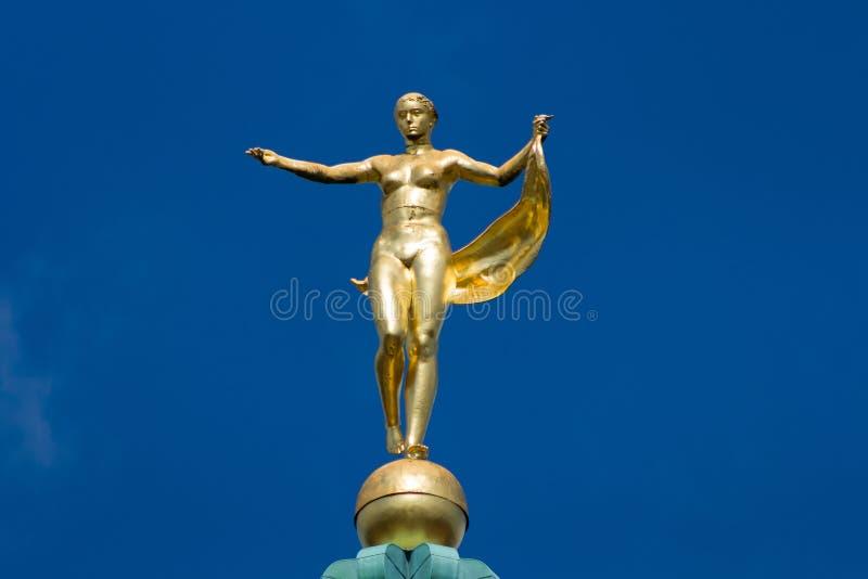 Escultura de la diosa Fortuna foto de archivo