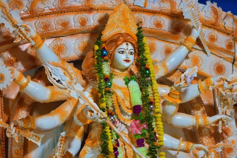 Escultura de la diosa hindú Durga Puja de Durga el festival hindú más grande de la India imagenes de archivo