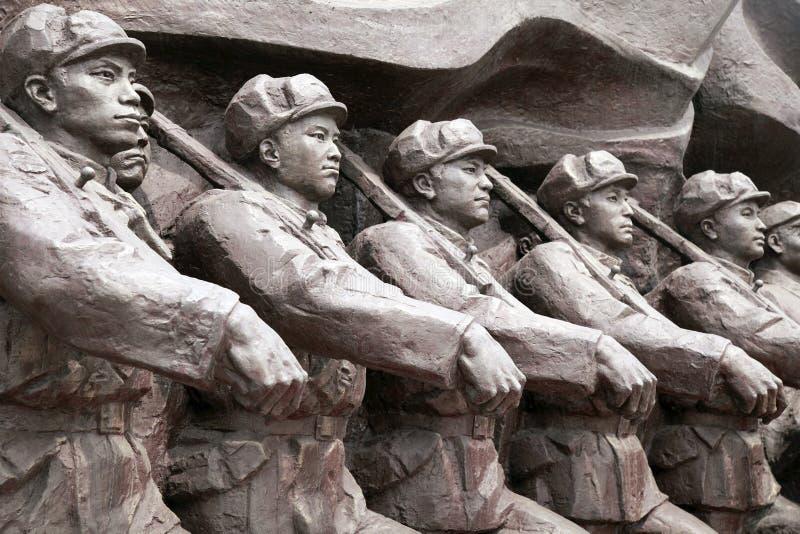 Escultura de la Guerra de Corea fotos de archivo libres de regalías