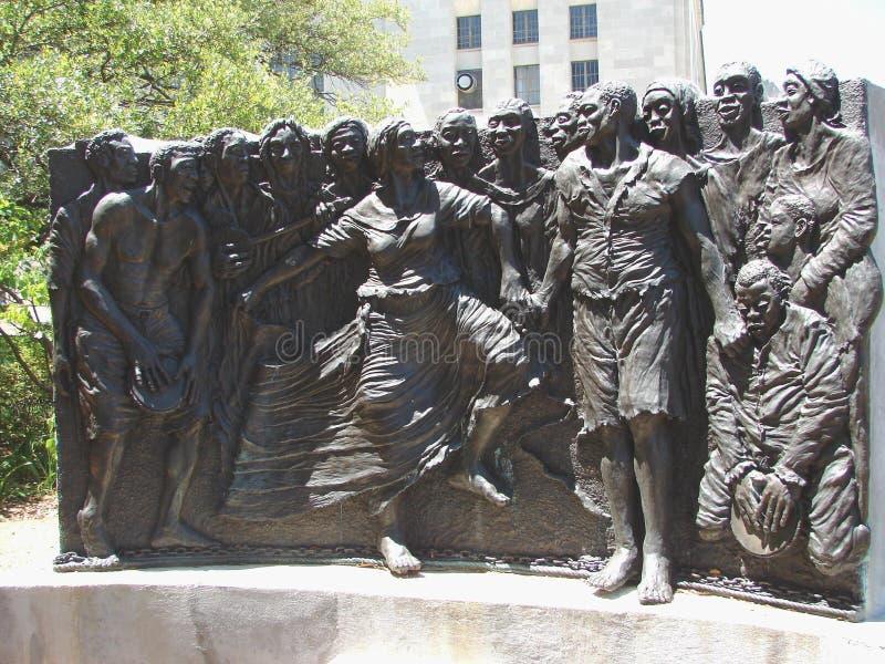 Escultura de la herencia del cuadrado de New Orleans Congo foto de archivo libre de regalías