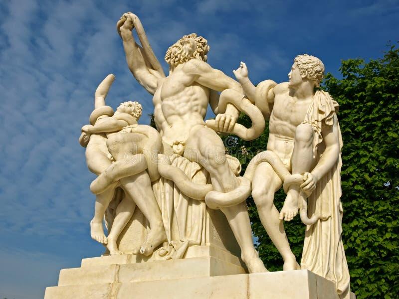 Escultura de Laocoon en Versalles imagen de archivo