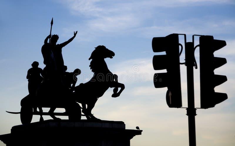 Escultura de Londres - de Boudica imagem de stock royalty free