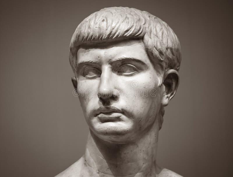 Escultura de mármol de Marcus Junius Brutus fotografía de archivo