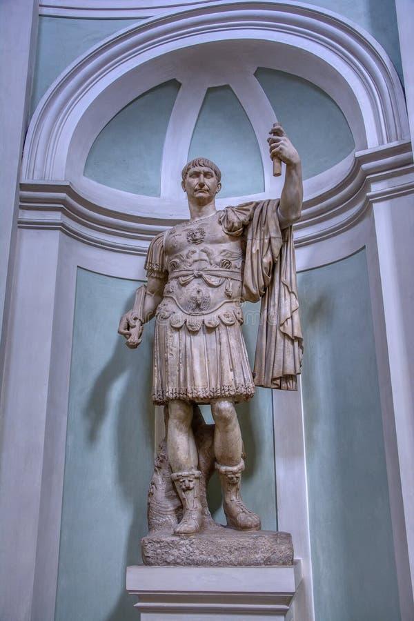 Escultura de m?rmore romana em Floren?a, It?lia foto de stock royalty free