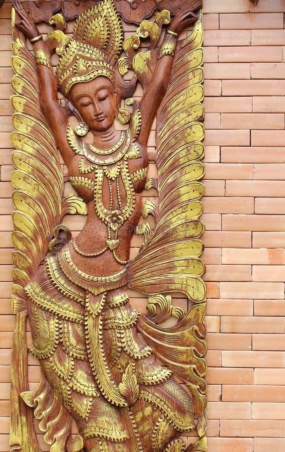 Escultura de madeira fotografia de stock