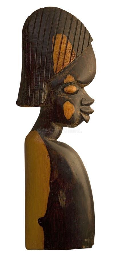 Escultura de madeira africana imagens de stock