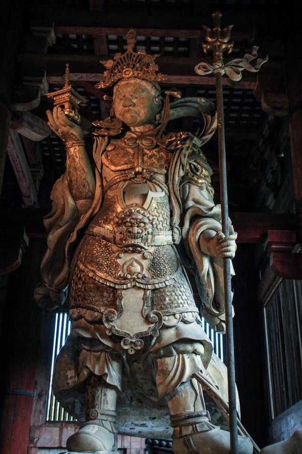Escultura de madeira do templo de dai-ji do  de TÅ, Kei School da escultura, Nara, Kansai, Japão fotografia de stock