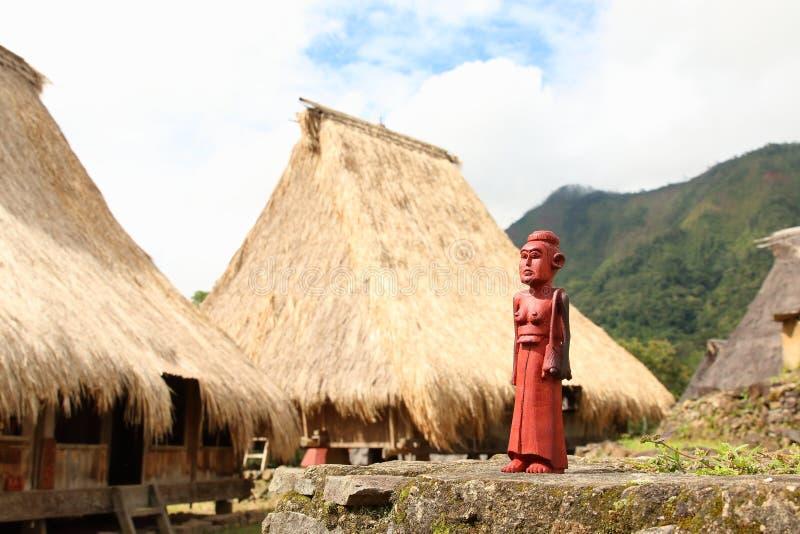 Escultura de madeira, Ende foto de stock royalty free