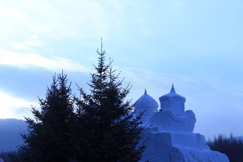 Escultura de neve imagem de stock royalty free
