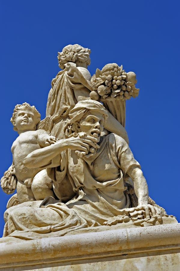 Escultura de París, Francia, Versalles, imagen de archivo