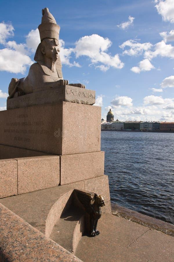 A escultura de pedra da esfinge fotografia de stock