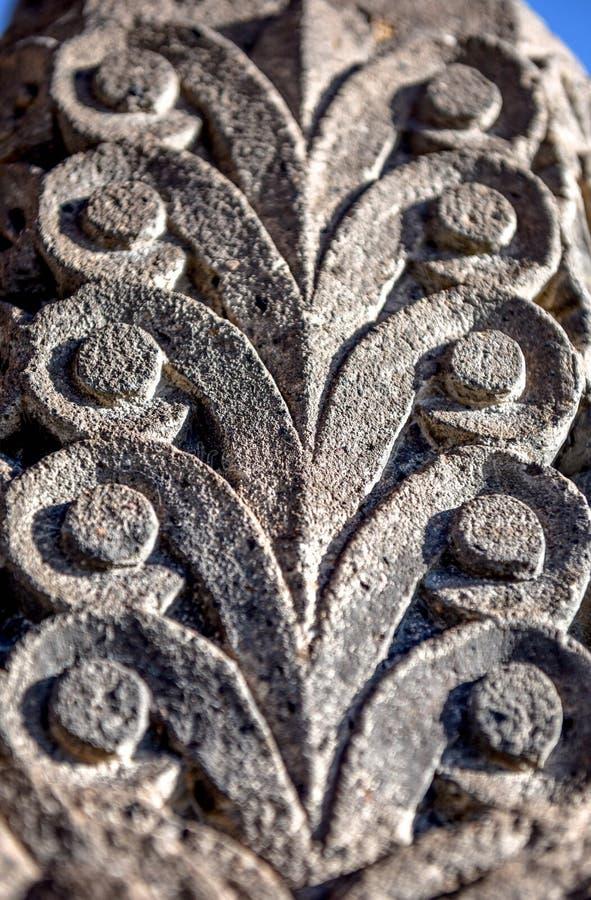 Escultura de pedra da textura armenian imagens de stock royalty free