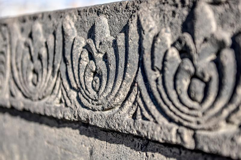 Escultura de pedra da textura armenian imagens de stock