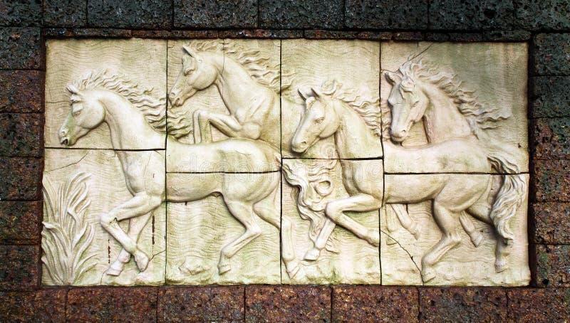 Escultura de piedra del caballo fotos de archivo libres de regalías