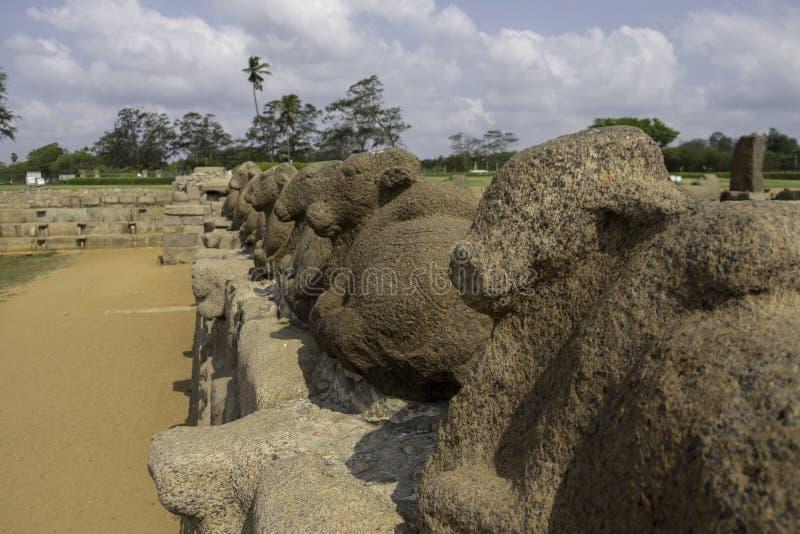Escultura de piedra en Chennai la India foto de archivo