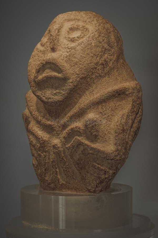 Escultura de piedra - Lepenski vir en Serbia foto de archivo libre de regalías