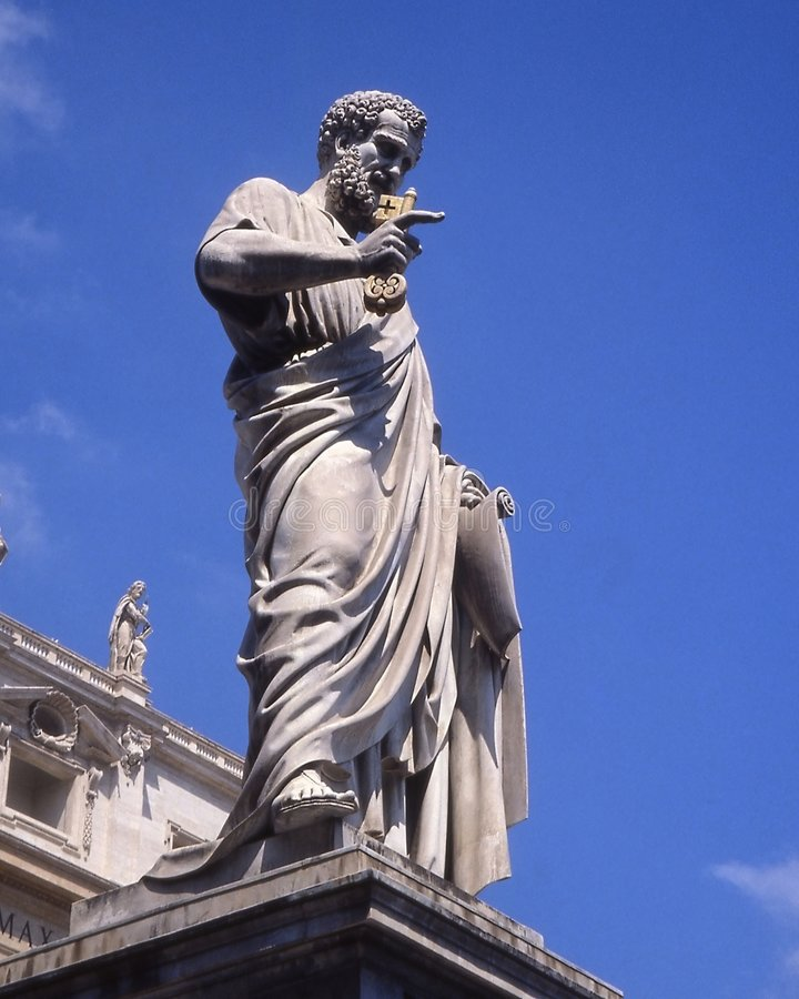 Escultura de San Peter. foto de archivo