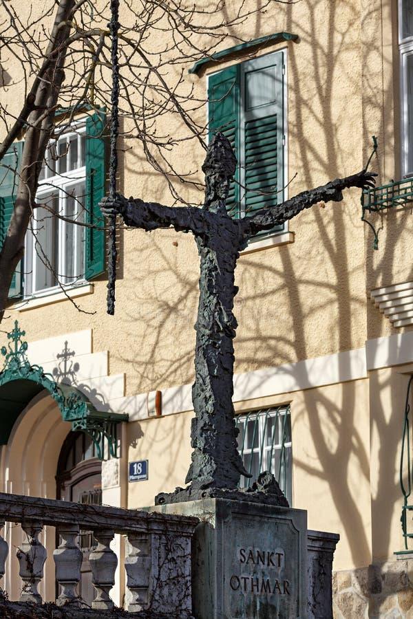 Escultura de Sankt Othmar Cidade de Moedling, Baixa Áustria, Europa imagens de stock royalty free