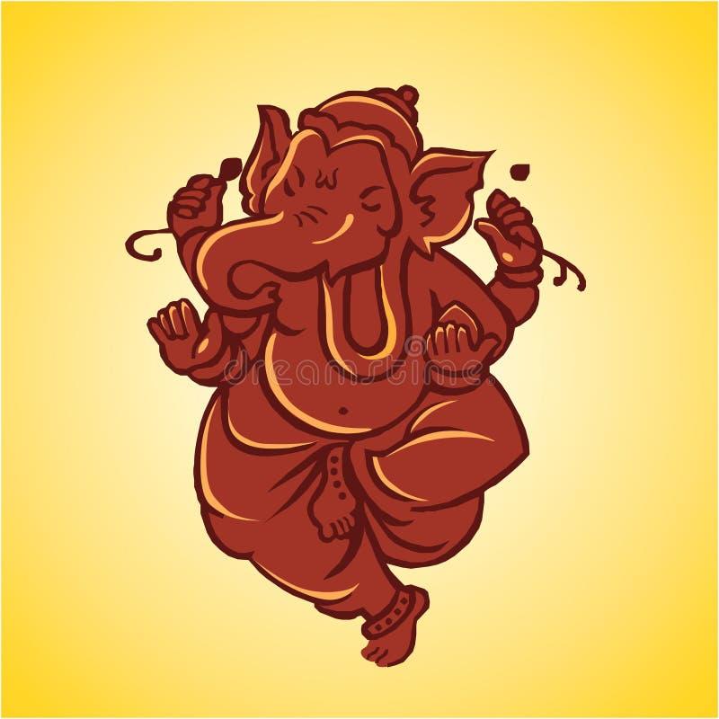 Escultura de señor Ganesha ilustración del vector