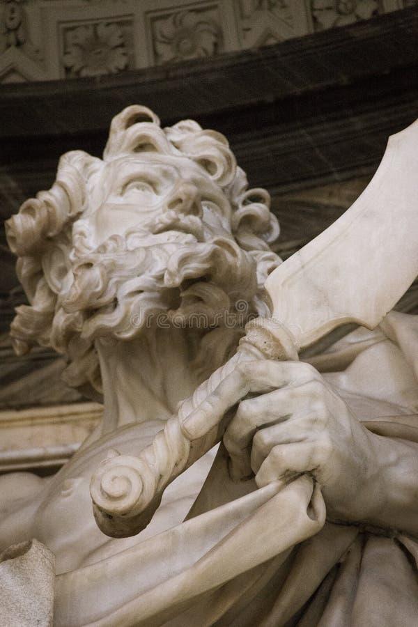 Escultura de St Bartholomew fotografía de archivo