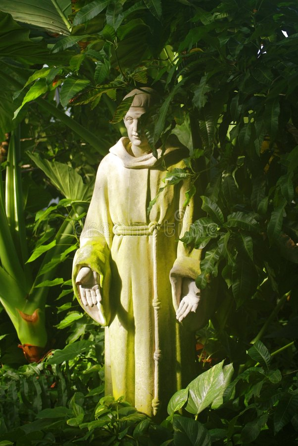 Escultura de St Francis imagenes de archivo