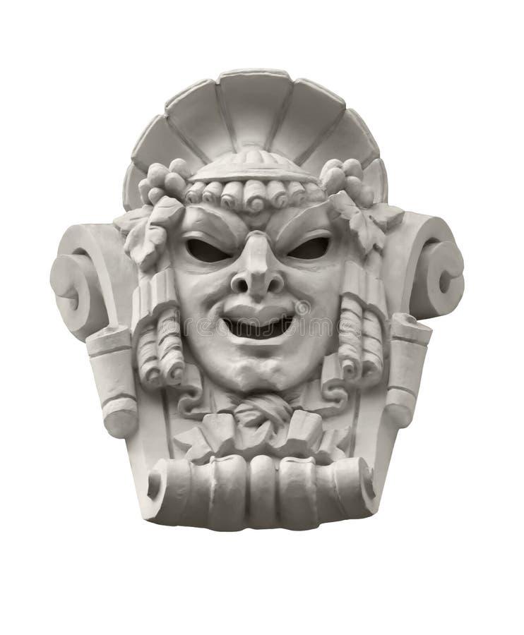 Escultura de teatro de la máscara fotos de archivo